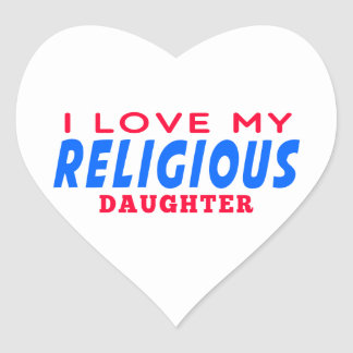 I Love My Religious Dance Daughter Sticker