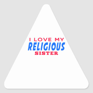 I Love My Religious Dance Sister Triangle Sticker