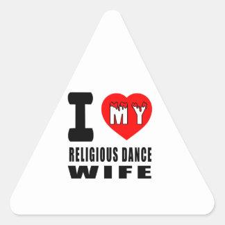 I Love My Religious Wife Stickers