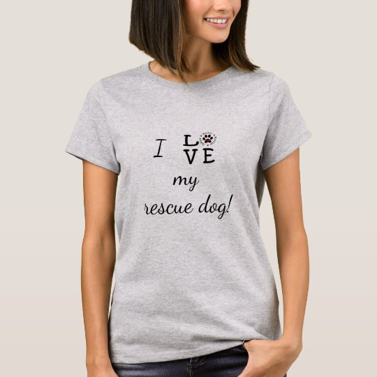 I Love My Rescue Dog Basic T-Shirt