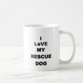 I Love My Rescue Dog Coffee Mug