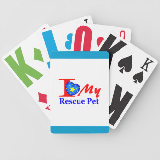 """I Love My Rescue Pet """"Heroes4Rescue"""" Bicycle Playing Cards"""