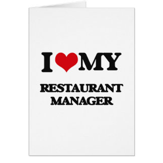 I love my Restaurant Manager Card