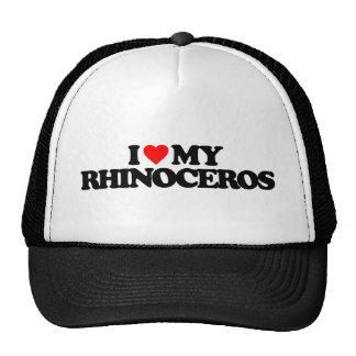 I LOVE MY RHINOCEROS TRUCKER HAT