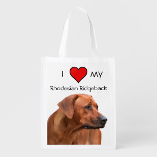 I love my Rhodesian Ridgeback case Reusable Grocery Bag