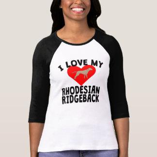 I Love My Rhodesian Ridgeback T-Shirt