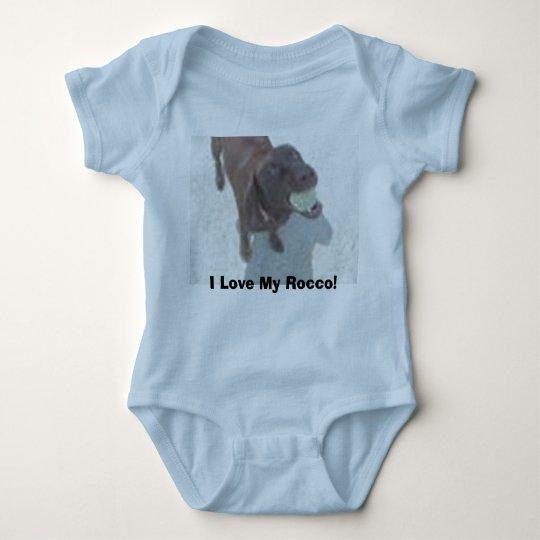 I Love My Rocco! Baby Bodysuit