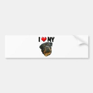 I Love My Rottweiler 2 Bumper Sticker