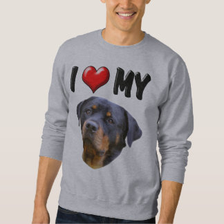 I Love My Rottweiler 3 Sweatshirt
