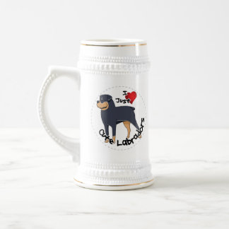 I Love My Rottweiler Dog Beer Stein