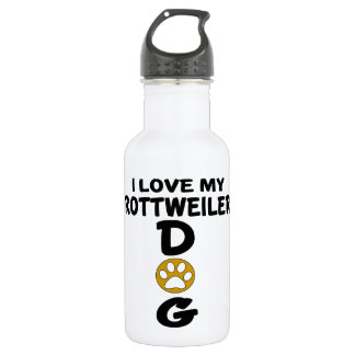 I Love My Rottweiler Dog Designs 532 Ml Water Bottle