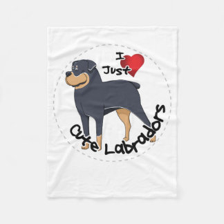 I Love My Rottweiler Dog Fleece Blanket