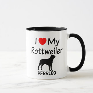I Love My Rottweiler Dog Mug