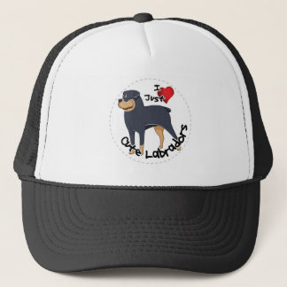 I Love My Rottweiler Dog Trucker Hat