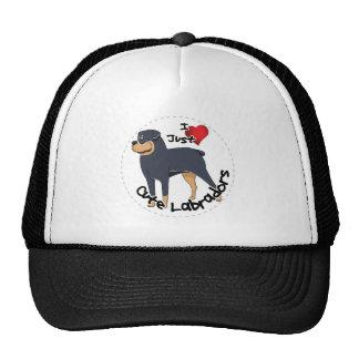 I Love My Rottweiler Dog Trucker Hat
