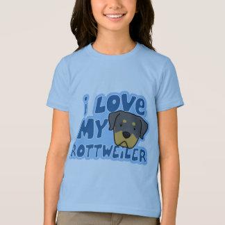 I Love My Rottweiler Girl's Ringer T-Shirt