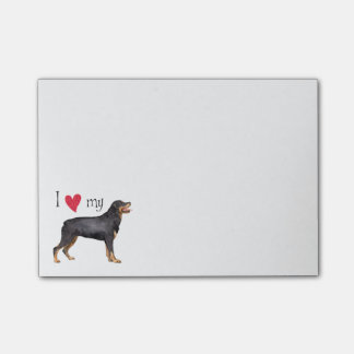 I Love my Rottweiler Post-it Notes