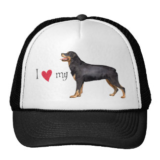 I Love my Rottweiler Trucker Hat