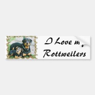 I Love my Rottweilers Bumper Sticker