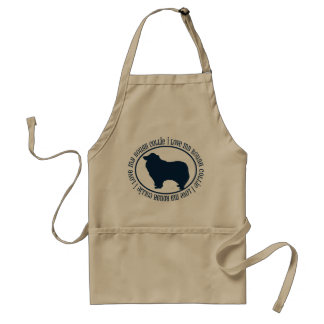 I Love My Rough Collie Standard Apron