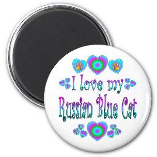 I Love My Russian Blue Cat Magnet