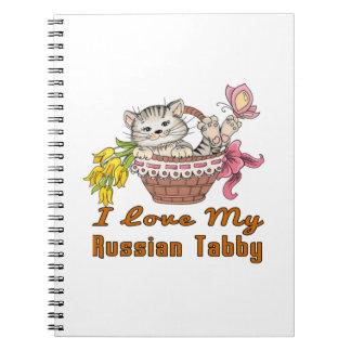 I Love My Russian Tabby Notebooks