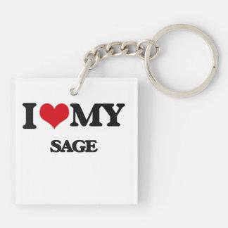 I love my Sage Square Acrylic Keychains