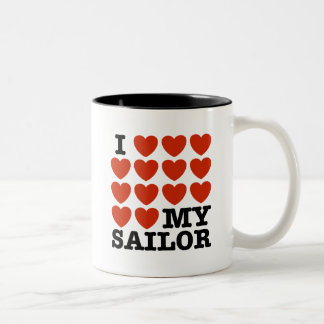 I Love My Sailor Coffee Mug