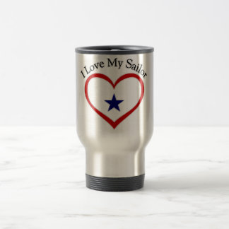 I Love My Sailor Travel Mug