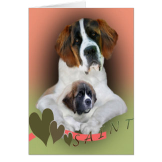 I Love My Saint Bernard Merchandise Card