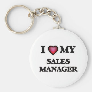 I love my Sales Manager Basic Round Button Keychain