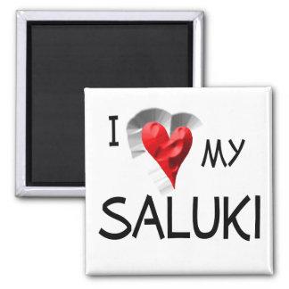 I Love My Saluki Magnet