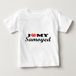 I Love My Samoyed Baby T-Shirt