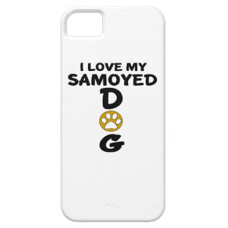 I Love My Samoyed Dog Designs Case For The iPhone 5