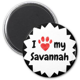 I Love My Savannah Cat Magnet