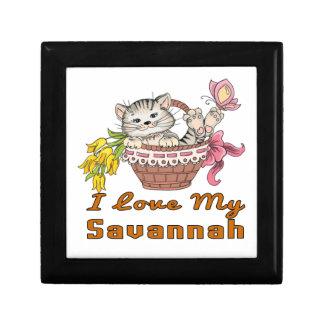 I Love My Savannah Keepsake Boxes