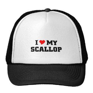 I love my scallop trucker hat