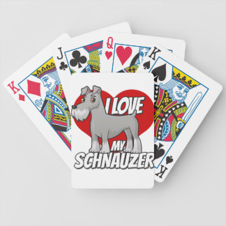 I Love My Schnauzer Bicycle Playing Cards