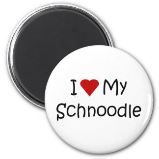 I Love My Schnoodle Dog Breed Lover Gifts 2 Inch Round Magnet