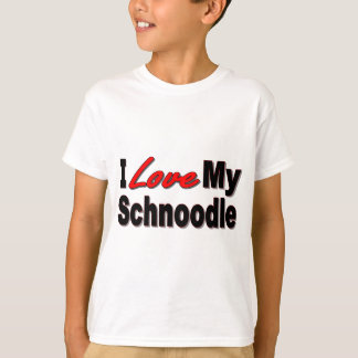 I Love My Schnoodle Dog Gifts and Apparel T-Shirt