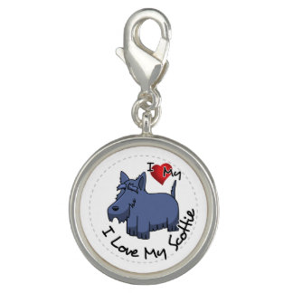 I Love My Scottie Dog Photo Charms