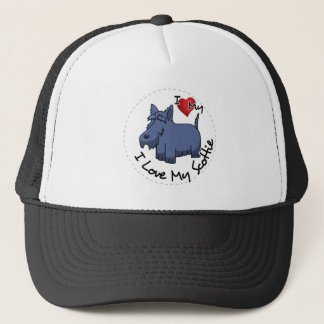I Love My Scottie Dog Trucker Hat