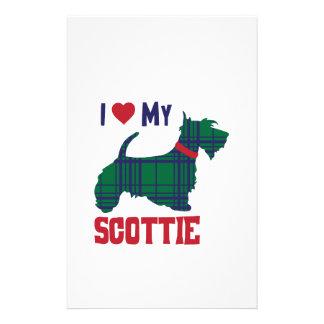 I Love My Scottie Stationery Design