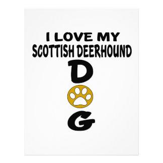 I Love My Scottish Deerhound Dog Designs Custom Letterhead