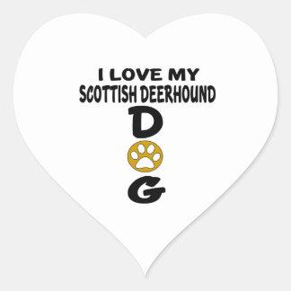 I Love My Scottish Deerhound Dog Designs Heart Sticker