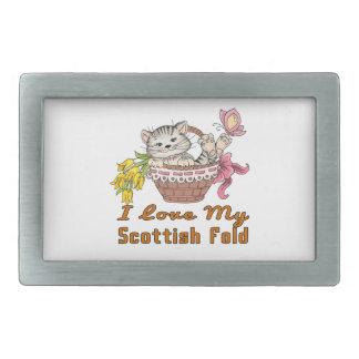 I Love My Scottish Fold Belt Buckle
