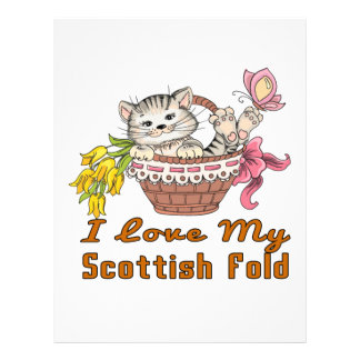 I Love My Scottish Fold Letterhead