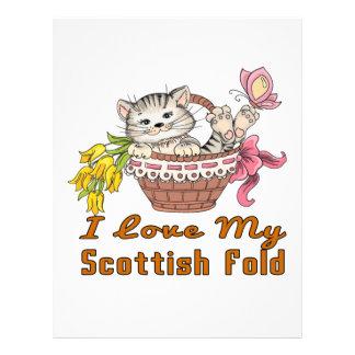 I Love My Scottish Fold Letterhead Design