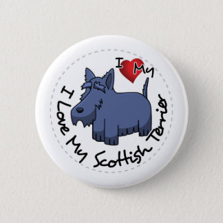 I Love My Scottish Terrier Dog 2 Inch Round Button