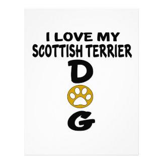 I Love My Scottish Terrier Dog Designs Letterhead Design